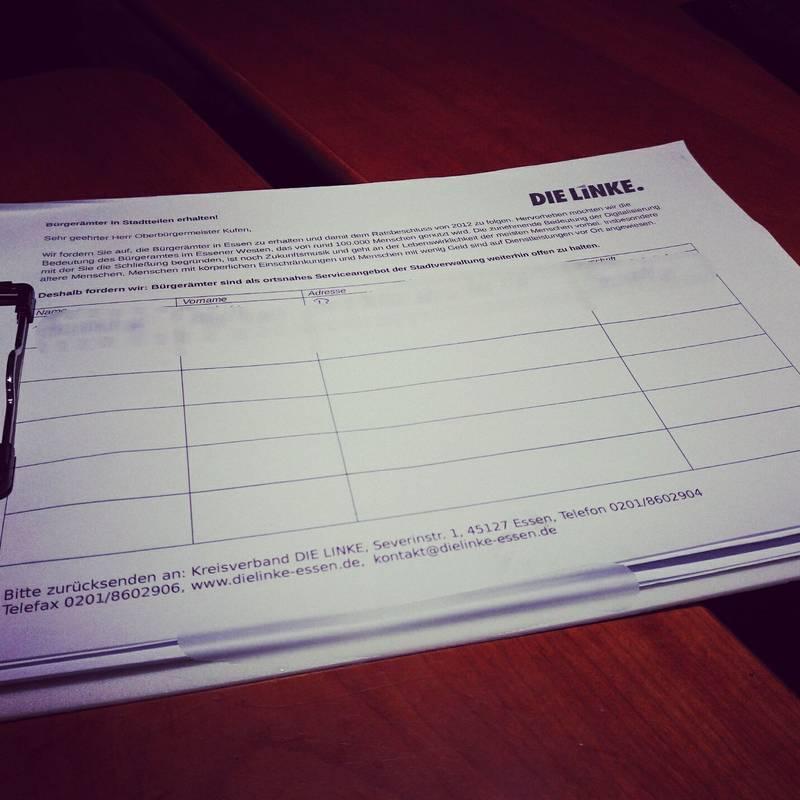 Bürgerämter: Linke sammelt innerhalb weniger Tage 400 Unterschriften gegen Schließung