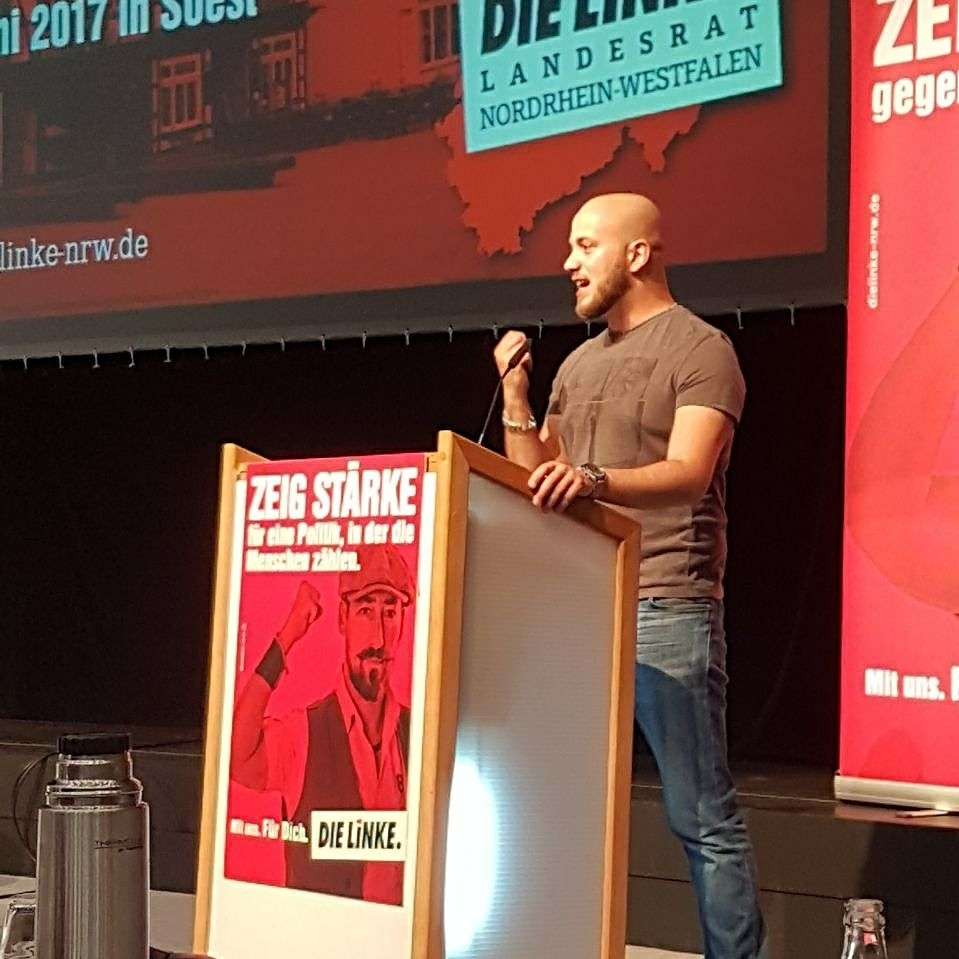 LINKER Direktkandidat stellt sich den Fragen der Bürger in Holsterhausen