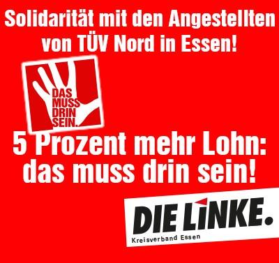 Fünf Prozent für die Angestellten von TÜV Nord – Das muss drin sein!