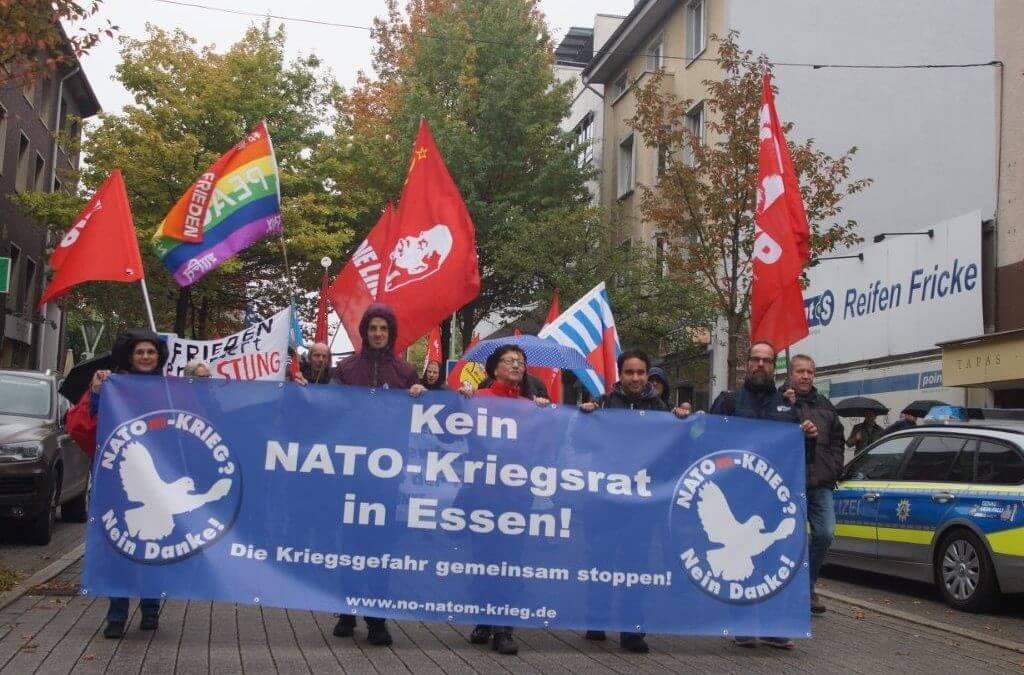 NATO-Militärkonferenzen in der Messe Essen