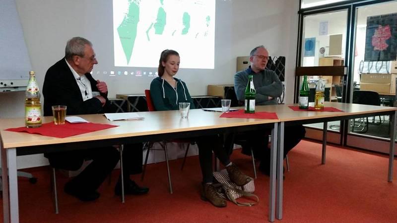 """Überwiegend Konsens auf der """"Frieden in Israel und Palästina"""" Veranstaltung im Heinz Renner Haus"""
