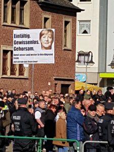 Rechte auf einer Kundgebung in Bottrop