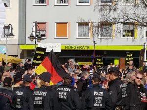 Rechte demonstrieren in Bottrop