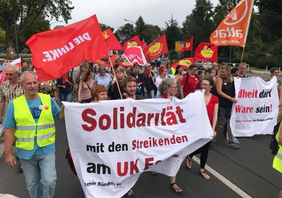 Der Zustand an deutschen Krankenhäusern ist das Problem, nicht der Streik des Uniklinik-Personals in Essen und Düsseldorf!