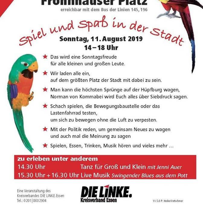 Zweiter Sommer-Rabatz auf dem Frohnhauser Platz