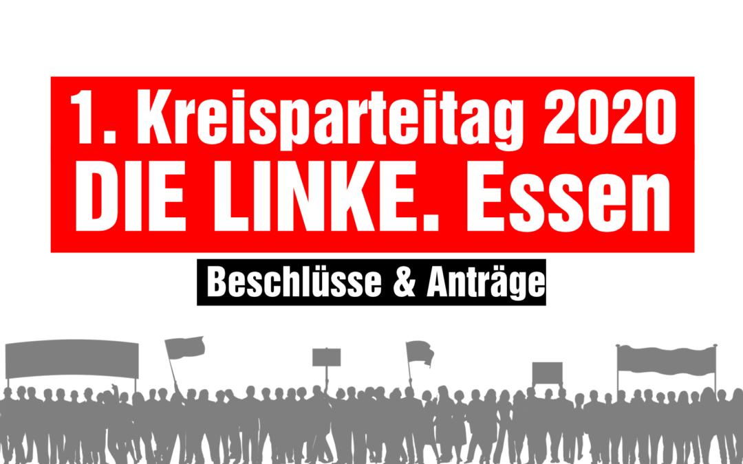 Beschlüsse des 1. Kreisparteitages 2020