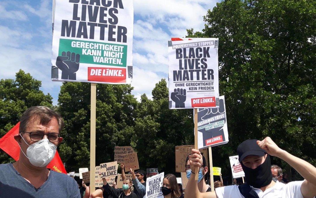 Solidarität mit den Black Lives Matter Protestsen