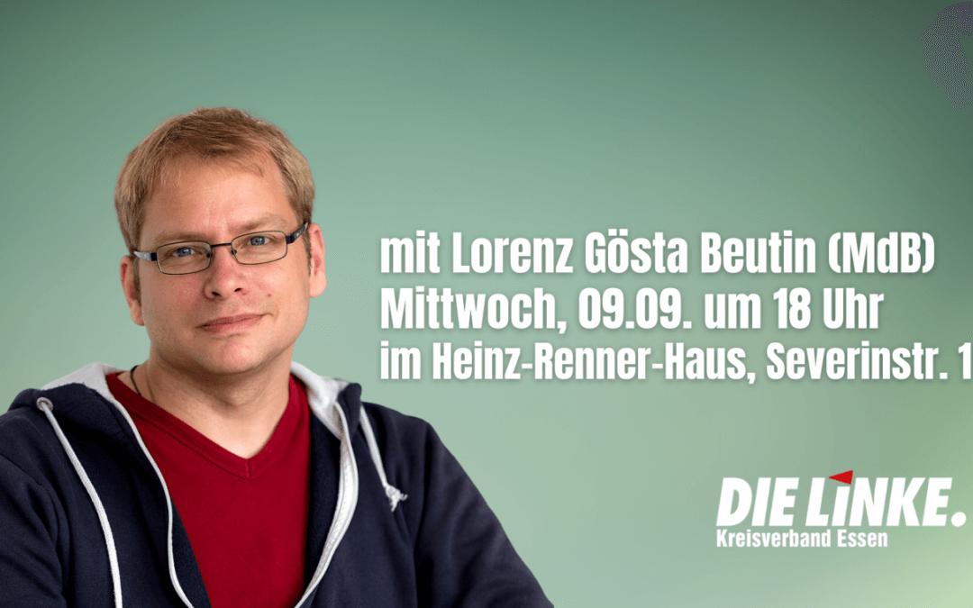 Klimapolitischer Sprecher der Bundestagsfraktion Lorenz Gösta Beutin zu Gast
